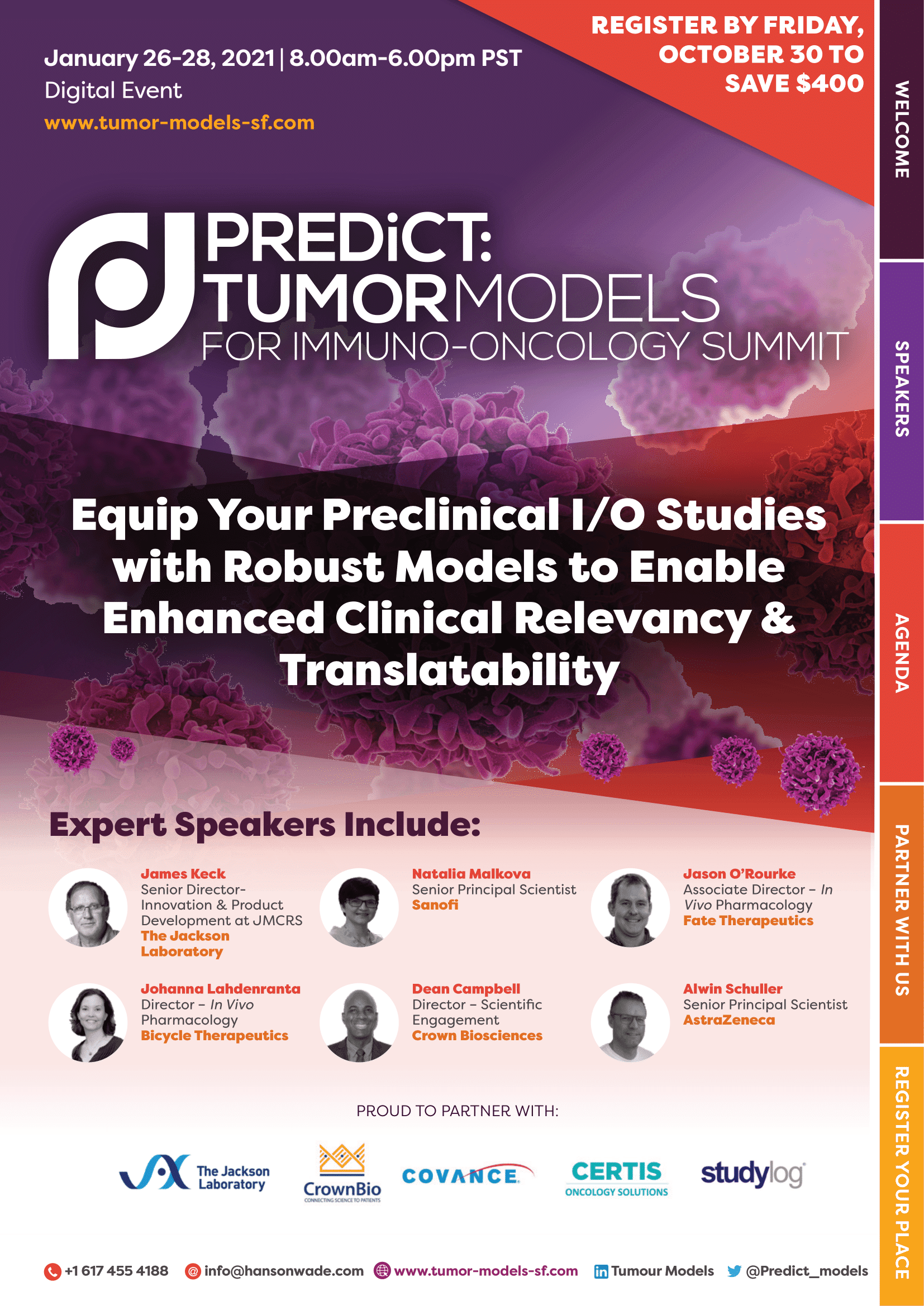 Official Program - Tumor Models San Francisco Summit 2021-01