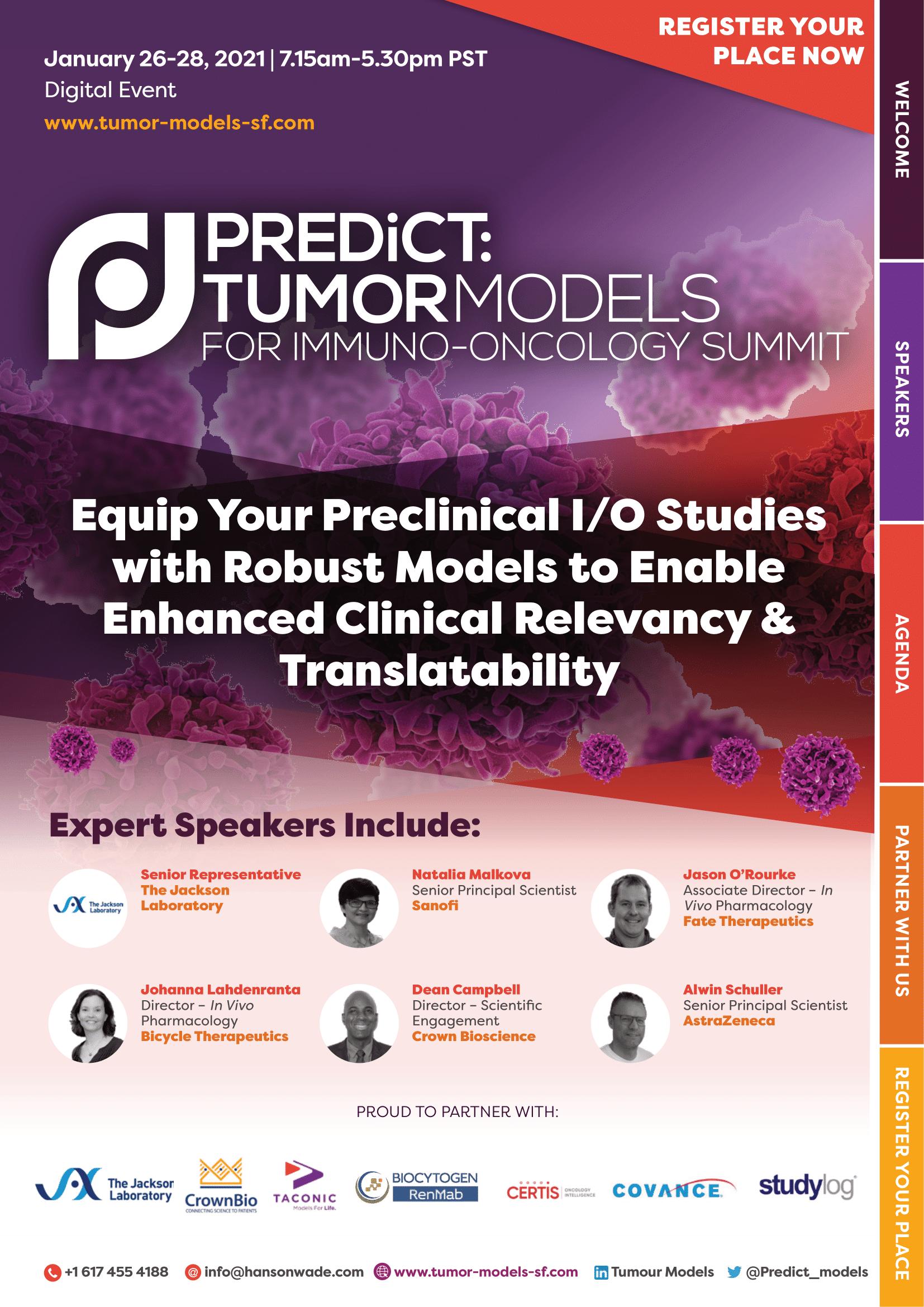Official Program - Tumor Models for Immuno-Oncology Summit-01
